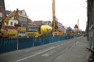Noord/Zuidlijn bouw Amsterdam
