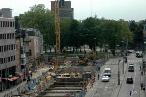 N/Zlijn machines op de Vijzelgracht Amsterdam